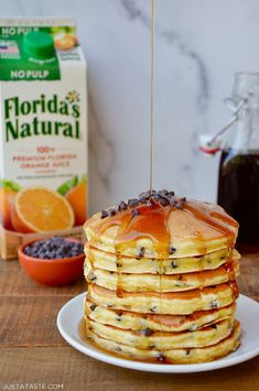 Add a citrusy twist to your stack of flapjacks with a family favorite recipe for Orange Ricotta Chocolate Chip Pancakes. With the whole family together at home, Chocolate Chip Pancakes, Mini Chocolate Chips, Chocolate Cake, Light And Fluffy Pancakes, Easy Homemade Pizza, Edible Cookies, Pancakes And Waffles, Ricotta Pancakes, Food Tasting
