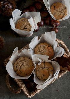 Muffin con castagne e cioccolato