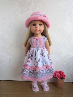 Платье и шляпка. Комплекты для девочек Готц. / Одежда для кукол / Шопик. Продать купить куклу / Бэйбики. Куклы фото. Одежда для кукол