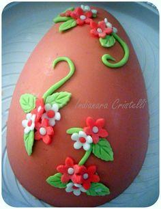 Chocolate egg cake for easter