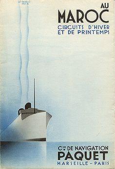 Au Maroc Circuits d'Hiver et de printemps C1E de Navigation Paquet Marseille - Paris Top 5 Vintage Travel Posters From FFound