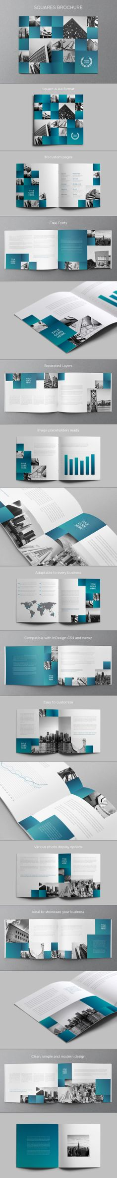 Architecture Squares Brochure. Download here: http://graphicriver.net/item/architecture-squares-brochure/5993725?ref=abradesign #design #brochure
