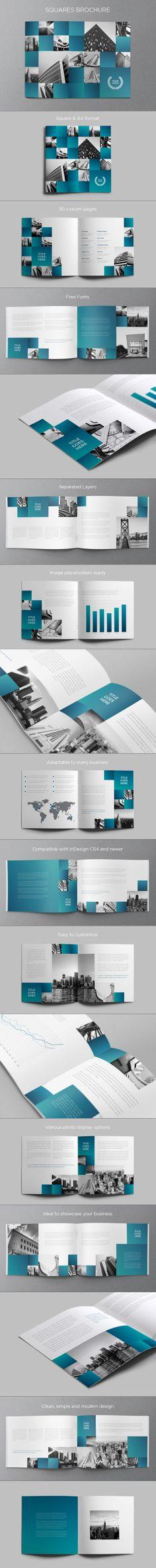 Architecture Squares Brochure. Download here: http://graphicriver.net/item/architecture-squares-brochure/5993725?ref=abradesign #design #brochure