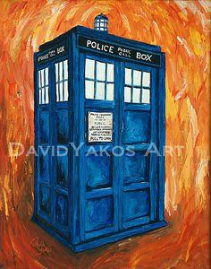 Doctor Who Tardis Painting Art Print 8x10 Dr by DavidYakos on Etsy, $20.00