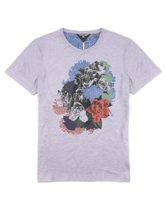 FLUTTR - Graphic rose print t shirt