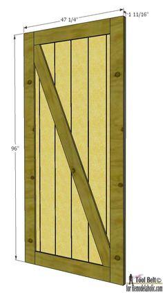 How to build a sliding barn door sliding barn doors for Sliding barn door construction plans