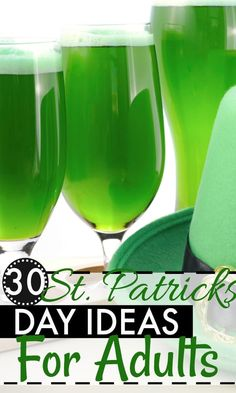 Looking for something fun to do on St. Patrick's Day? Here are 30 St. Patricks Day party ideas for adults.