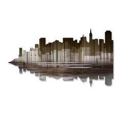 San Francisco Reflection II Metal Wall Art