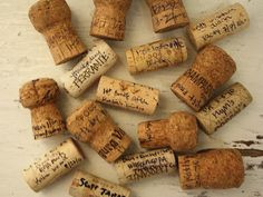 Remember special moments, dinners, dates and take the wine cork from the event and write the details and date on the cork.