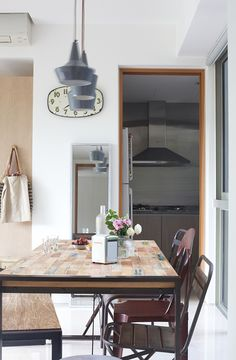 industrial style dining room | interior styling project by Make Room, Singapore