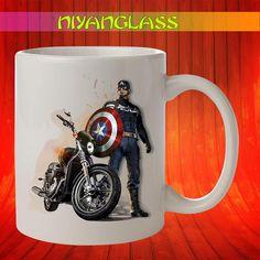 Captain America Soldier mug,... from Niyanglass on Wanelo