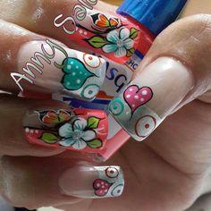 Deco Pretty Nail Designs, Diy Nail Designs, Pretty Nail Art, Nail Designs Spring, Cute Nails, My Nails, Fabulous Nails, Flower Nails, Stylish Nails