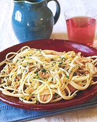 Linguine with Tuna, Capers, and Olives Recipe from Food & Wine