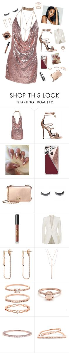 """""""Glistening"""" by trinsanity on Polyvore featuring Casetify, Tory Burch, Lipstick Queen, Alexander McQueen, Chanel, Harakiri, Lana, Accessorize, Argento Vivo and Sole Society"""