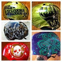 When I was in derby, my desire to customize pretty much everything I own found a nice snuggly spot in helmets. Derby girls often decorate their helmets in all kinds of awesome stickers and artwork...