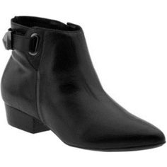 Messeca New York Black Leather Ankle Boots Booties Side Zip 37 Sz 6 NEW  #MessecaNewYork #FashionAnkle