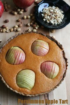 "Persimmon Apple Tart- perfect for ""wowing"" your guests from @NotJustBaked"