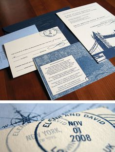 Love this New York themed wedding invite by Brown Sugar Design