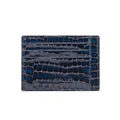 LEATHER CREDIT CARD HOLDER BILL / MLANO BLUE GOLDBLACK Premium Accessories