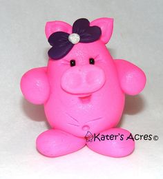 polymer+clay+animal+ideas   CHUBBY PIG Polymer Clay Animal Made to Order by ...   Craft Ideas