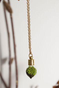 terrarium heart necklace