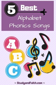 Top 5 Phonics Alphabet Songs ~ Study and Faith Phonics Alphabet Song, Alphabet Sounds Song, Teaching Letter Sounds, Preschool Phonics, Teaching The Alphabet, Teaching Phonics, Preschool Letters, Phonics Activities, Preschool Learning