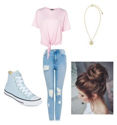 """""""Lazy Days"""" by familybuisness2y5 on Polyvore featuring Boohoo, Converse and Versace"""