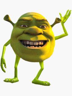 Reaction Memes Discover shrek mike wazowski meme Canvas Print by madgeik Shrek Funny, Shrek Memes, Funny Spongebob Memes, Cartoon Memes, Funny Relatable Memes, New Memes, Dankest Memes, Shrek Drawing, Punk Disney Princesses