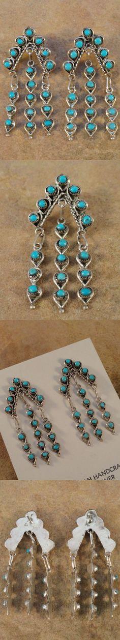 Earrings 98497: Wayne Johnson Zuni Sterling Silver And Turquoise Rain Cloud Earrings -> BUY IT NOW ONLY: $68 on eBay!