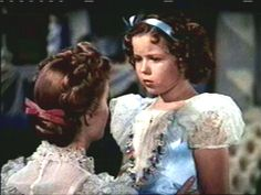 Sara Crewe (played by Shirley Temple) in A Little Princess a novel by Frances Hodgson Burnett