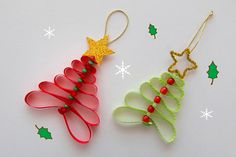These little Ribbon Christmas Tree Decorations looks simple but cute, they are made from ribbon and beads, you kids. The post The Perfect DIY Ribbon Beads Christmas Tree appeared first on The Perfect DIY. Handmade Christmas Decorations, Christmas Ornament Crafts, Holiday Crafts, Holiday Decor, Simple Christmas, Christmas Holidays, Christmas Trees, Christmas Candles, Scandinavian Christmas