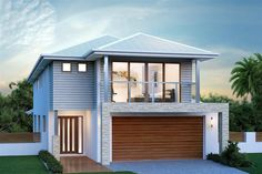 Buderim Home Designs in Sydney - North (Brookvale) Facade Design, Exterior Design, Latest House Designs, Facade House, House Facades, Storey Homes, Display Homes, Metal Homes, Modern House Design