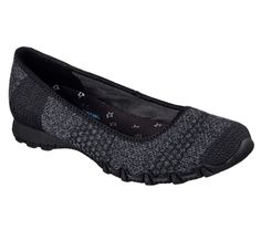 Women's Skechers Relaxed Fit Bikers Tropicana Ballet Flat Skimmer Black (US Women's 8 M (Regular)) Skechers Relaxed Fit, Fabric Shoes, Mesh Fabric, Shoes Online, Ballet Flats, Slip On, Heels, Boots, Leather