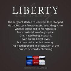 Pain has a perfect memory. Liberty by Rebecca Belliston #CitizensofLoganPond