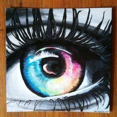 Colorful Eye Painting, $35.00