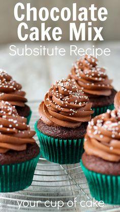 Chocolate Cake Mix Substitute