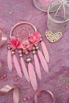 Dreamcatcher pink Dream Catcher pink small Dreamcatcher baby Dream сatcher gift dreamcatchers boho dreamcatcher wall handmade gift valentine http://etsy.me/2D367A4 #domanaautvar #dekordoma #belyj #svadba #rozovyj #dreamcatcher #newdreamsatchers #dreamcatcherboho #dream