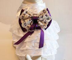 Purple Lace Dog dress, Dog ring bearer, Purple Wedding accessory, Purple Wedding idea, Dog Clothing, Pet lovers, Proposal idea