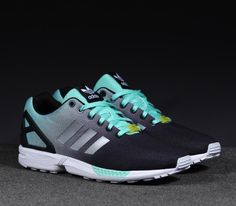 adidas ZX FLUX Fade Pack–Core Black-Metallic Silver-Bahia Mint