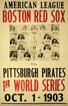 The first ever World Series game is played. Pittsburgh Pirates vs. Boston Red Sox - Pittsburgh, Pennsylvania