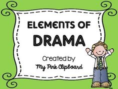 """UPDATED on 3/24/15 - I have added """"stage directions"""" as an element...thank you for your feedback!I love to create anchor charts with my class, but sometimes I need a chart I can laminate and use over and over for multiple texts. I love bubble maps, so I created this one with the elements of drama."""