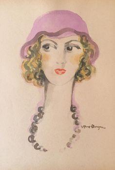 Kees van Dongen - Woman, Mixed media on paper