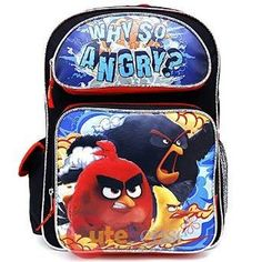 Angry Birds 16' inches Large Backpack - WHY SO ANGRY? New Licensed -- Continue to the product at the image link. (This is an Amazon Affiliate link and I receive a commission for the sales)