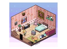 some new isometric art, finally! this time in tribute to happy home designer!
