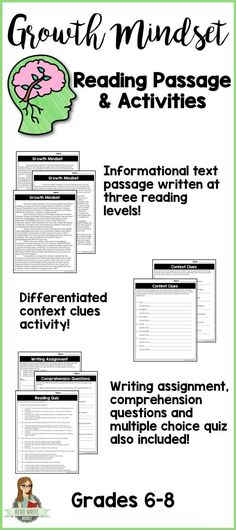 Differentiated reading comprehension passage and questions. Great practice with context clues. 8th Grade Reading, Middle School Reading, Mind Reading Tricks, Reading Skills, Reading Groups, Study Skills, Reading Workshop, Passage Writing, Reading Worksheets