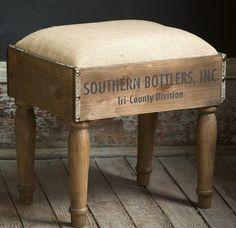 Crate Footstool | Wooden Footstool | Wooden Foot Rest