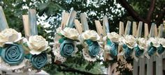 French Shabby Chic Cottage decorative clothespins by ilovethis