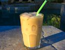 McDonald's Vanilla Iced Coffee Copycat Recipe - 1/4 cup Torani vanilla syrup, 1/4 cup half-and-half, 1 cup strong cold coffee - my version 1/8 c simple syrup, 1/4 c half and half, 1 c coffee