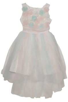 Biscotti Origami Garden Dress in sizes 2 - This gorgeous dress is perfect for your little prima ballerina. An absolute showstopper in sparkle tulle, it features a bodice covered in flowers and a dramatic high-low hemline. Garden Dress, Spring 2014, Formal Dresses, Wedding Dresses, Hemline, Gorgeous Dress, Beautiful, Bodice, Tulle
