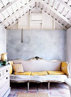 antique couch in great lil space